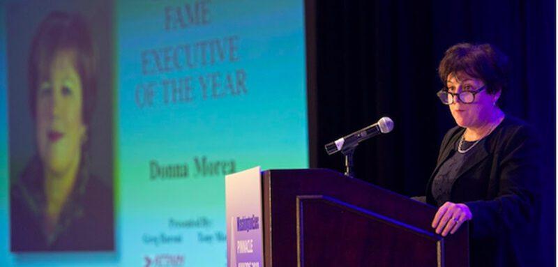 Donna Morea at the WashingtonExec Pinnacle Awards on Nov. 1, 2018.