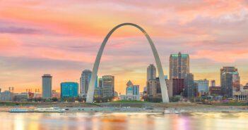 St. Louis downtown city skyline at twilight. Image: f11photo/iStock
