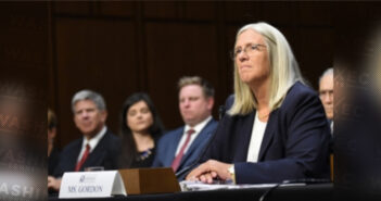 Sue Gordon at Confirmation Hearing