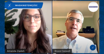 Bruce Caswell (Maximus Federal) and Amanda Ziadeh (WashingtonExec) speak in video interview