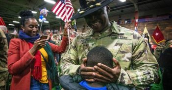 U.S. Army Soldiers with the New Jersey Army National Guard are reunited with their Families and friends after a welcome home ceremony at the National Guard Armory in Westfield, N.J., Dec. 12, 2019. The Soldiers, who are part of New Jersey's 44th