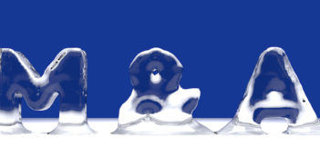 M&A word from melting ice letters for an interesting header for merger and aquisition concept with copy space. 3d Rendering - Illustration (M&A word from melting ice letters for an interesting header for merger and aquisition concept with copy space
