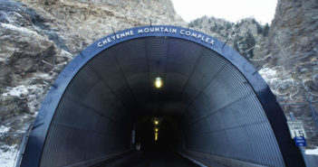 The tunnel entrance to Cheyenne Mountain Air Force Station. Image: DOD