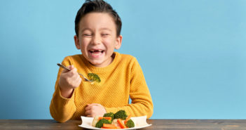 Child is eating vegetables. He is very happy. Image: pinstock/iStock