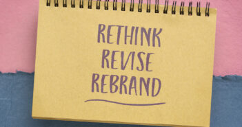 rethink, revise, rebrand - motivational handwriting in a spiral sketchbook, business or personal development concept (rethink, revise, rebrand - motivational handwriting in a spiral sketchbook, business or personal development concept, ASCII, 117 comp