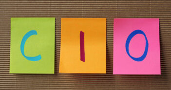 CIO acronym on colorful sticky notes