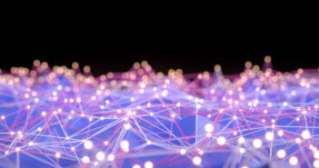 Network mesh, chaos, blockchain. Defocused lights. Image: akinbostanci/iStock