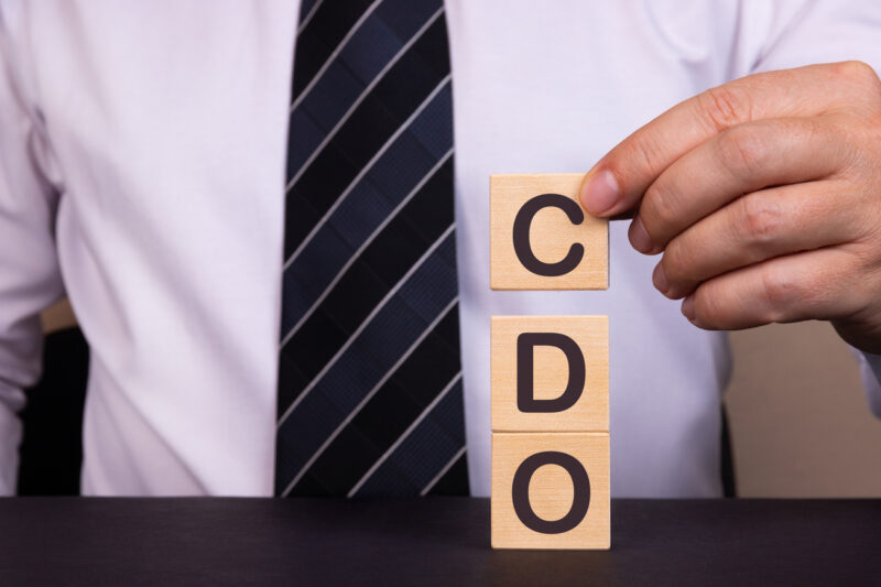 Business Acronym CDO Collateralized debt obligation. Conceptual image. I