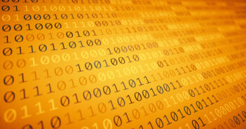 A front view on a blue spreadsheet with encrypted computer data. Image: matejmo/iStock