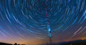 Satellite Communications Under A Starry Sky