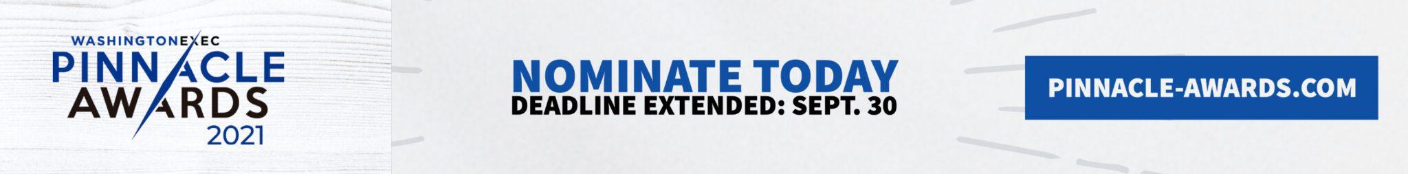 Pinnacle Awards Banner Nomination Deadline Extended